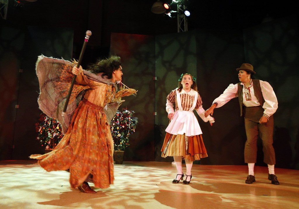 The witch frightens the children in Hansel and Gretel.