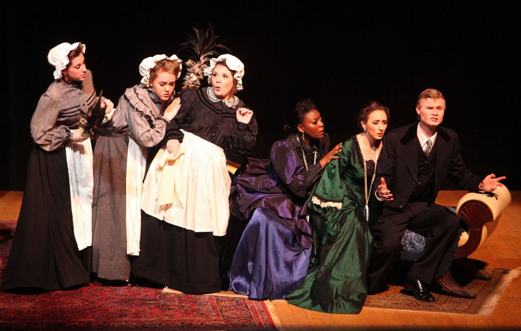 "a group of women performing ""Cosi Fan Tutte"""