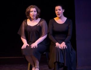 two women singing